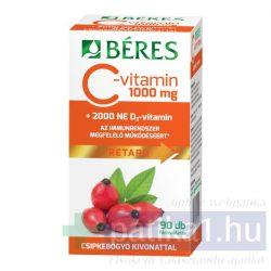 Béres C-vitamin 1000 mg csipke D3 2000 NE retard filmtabletta 90 db